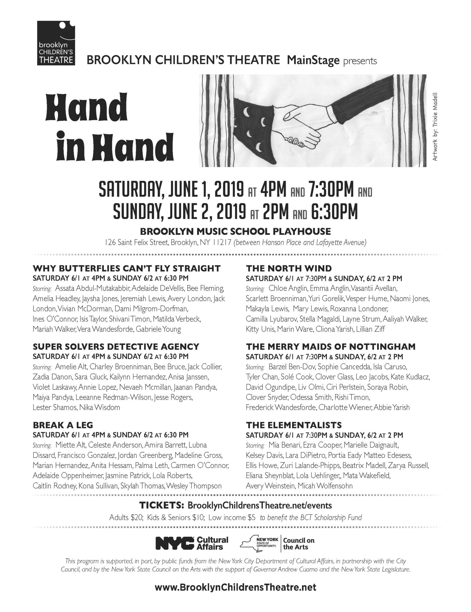Brooklyn Children's Theatre | HAND IN HAND Tickets : MainStage 5